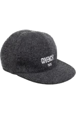 Givenchy Charcoal Grey Logo Embroidered Wool Baseball Cap