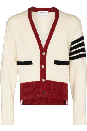 Thom Browne 4-Bar tweed cardigan