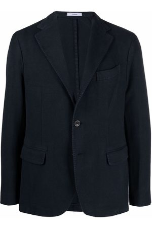 Boglioli Canvas straight-cut blazer