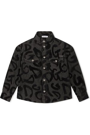 Dolce & Gabbana Kids Graffiti-logo longsleeved shirt - Grey