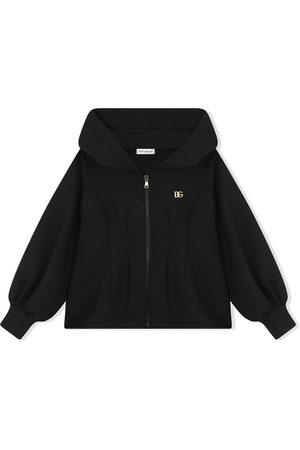 Dolce & Gabbana Hooded zip-front sweatshirt