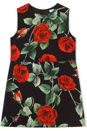 Dolce & Gabbana Kids Sleeveless rose-print dress