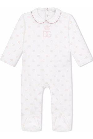 Dolce & Gabbana DG-logo print babygrow set