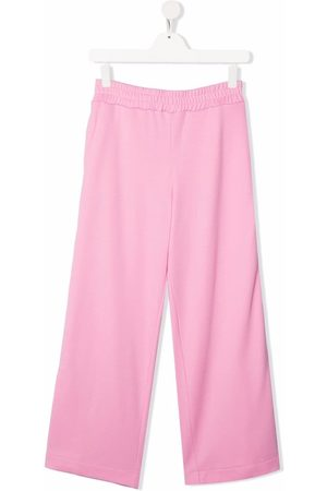 Fendi Kids Wide leg track trousers