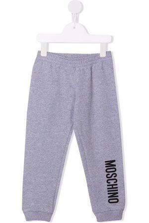 Moschino Baby Leggings - Logo-print leg trousers - Grey