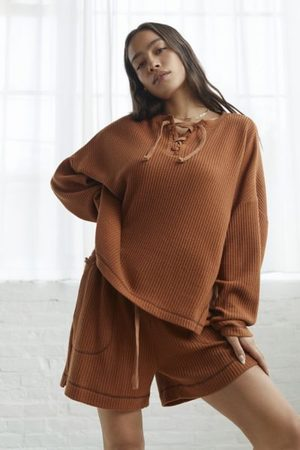 Out From Under Dustin Lace-Front Henley Top