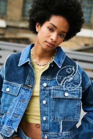 BDG Women Denim Jackets - Indigo Yin Yang Patchwork Denim Jacket