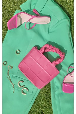 PRETTYLITTLETHING Mini Ruched Handle Square Detail Grab Bag