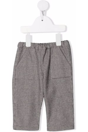 Bonpoint Houndstooth-check straight leg trousers