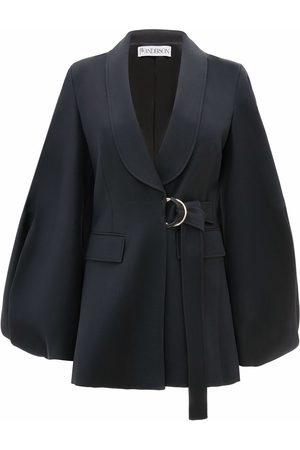 J.W.Anderson Women Blazers - Balloon-sleeve belted wool jacket