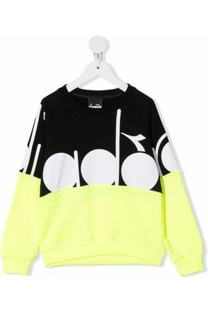 Diadora Junior Boys Hoodies - Geometric print sweatshirt