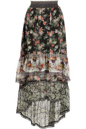 Alice+Olivia Mix print maxi skirt