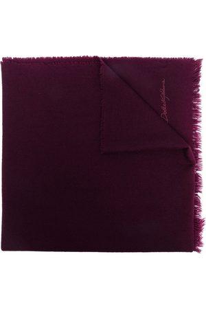 Dolce & Gabbana Logo-embroidered cashmere scarf