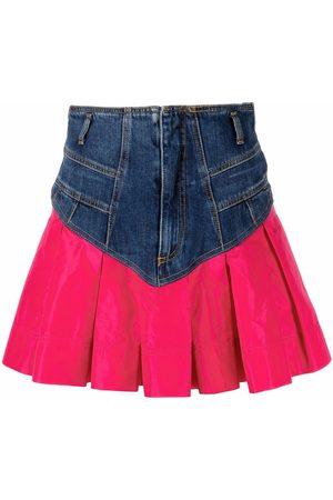 Pinko Two-tone denim skirt