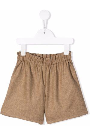 Bonpoint Gathered-waist shorts - Neutrals