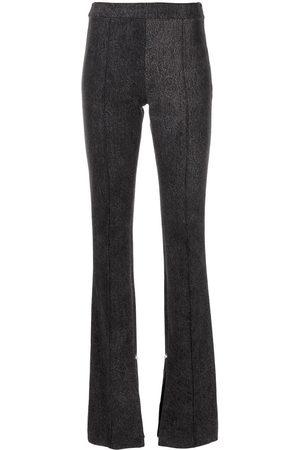 Adam Lippes Washed-finish flared leg jeans - Grey