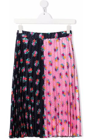 Msgm Floral-print pleated skirt