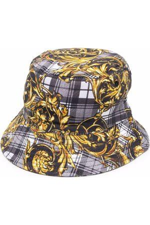 Versace Jeans Couture Men Hats - Baroque pattern-print bucket hat