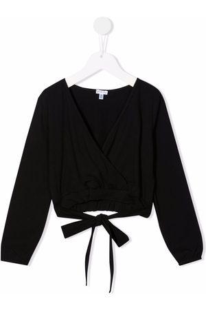Piccola Ludo Cropped wrap blouse