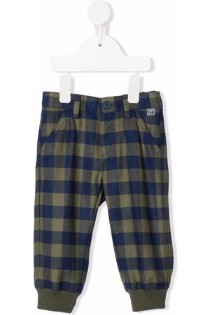 Il Gufo Checked tapered-leg trousers