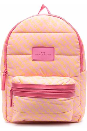 The Marc Jacobs Girls Rucksacks - Logo-patch padded backpack