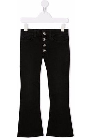 DONDUP KIDS Girls Flares - Crystal-embellished flared jeans