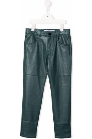 Philosophy Di Lorenzo Serafini Kids Patch-detail faux leather trousers