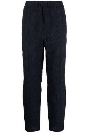 Emporio Armani Textured-finish trousers