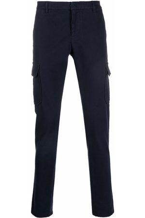 Dondup Men Cargo Pants - Cargo-pockets cotton straight-leg trousers