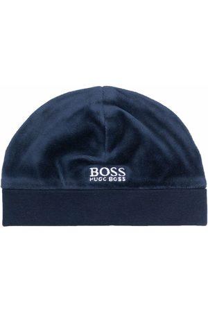 BOSS Kidswear Embroidered logo beanie
