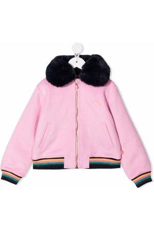 Billieblush Glittered unicorn bomber jacket