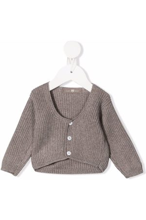 Little Bear Stone wool cardigan - Neutrals