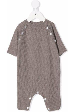 Little Bear Stone knit onesie - Neutrals