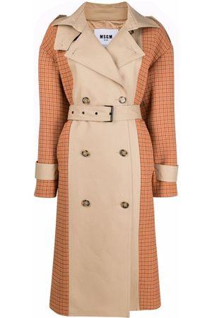MSGM Colour-block trench coat