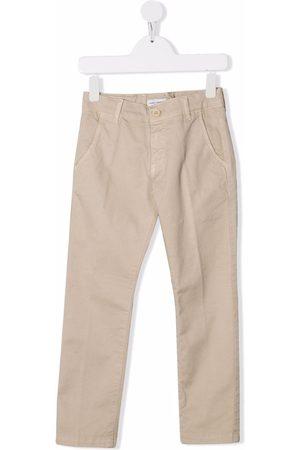 Paolo Pecora Kids Slim cut tailored trousers - Neutrals