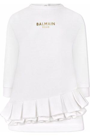 Balmain Kids Pleat-detail sweater dress