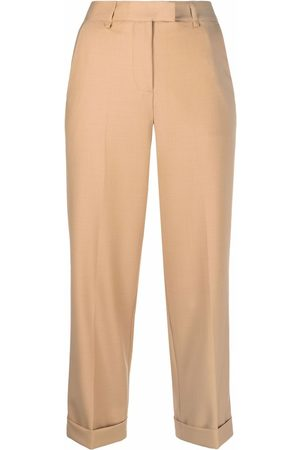 TWINSET Cropped straight-leg trousers - Neutrals