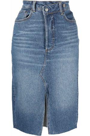 Boyish Jeans High-waisted pencil denim skirt
