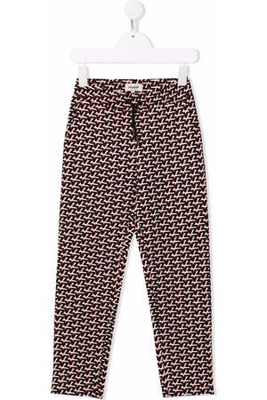 Zadig & Voltaire Kids Monogram-print straight leg trousers