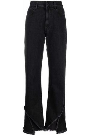 Ssheena Slit-hem wide leg jeans