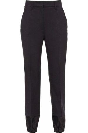 Prada Women Formal Pants - Contrasting-panel tailored trousers