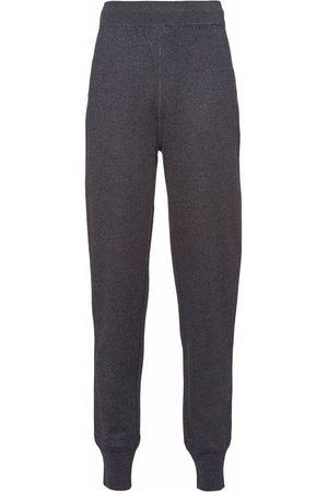 Prada Women Sweatpants - Cuffed wool joggers - Grey