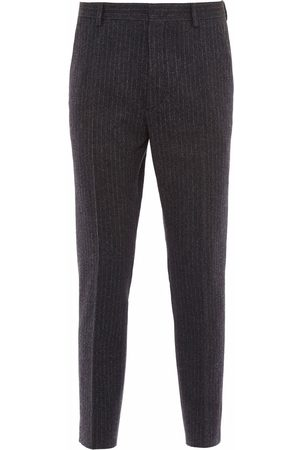Prada Men Formal Pants - Pinstripe wool trousers - Grey