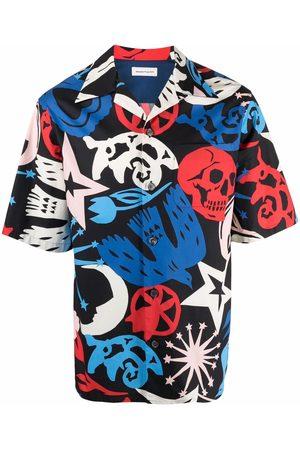 Alexander McQueen Graffiti print short-sleeve shirt