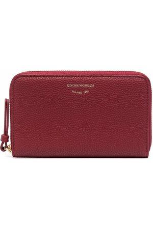 Emporio Armani Engraved-logo zip-around wallet