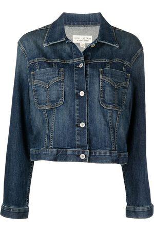 Nili Lotan Cropped denim jacket