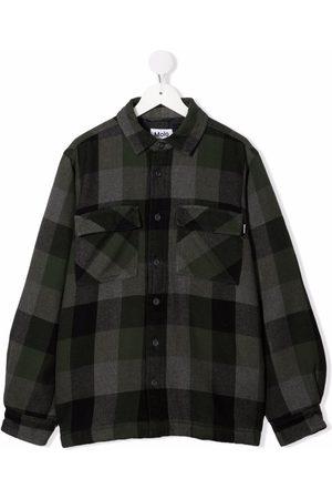 Molo TEEN plaid button-up jacket