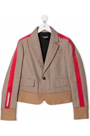 Dsquared2 Kids Stripe-print detail blazer - Neutrals