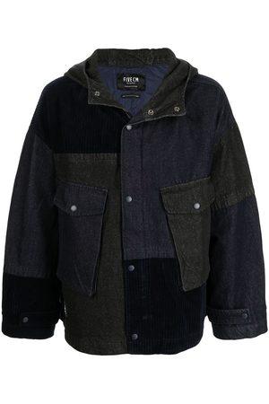 FIVE CM Patchwork hooded jacket