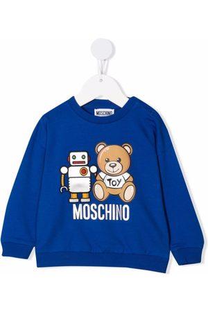 Moschino Kids Hoodies - Logo crew-neck sweatshirt